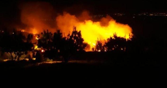Süryani Manastırı zeytinliklerinde yangın