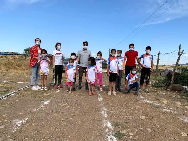 Çocuklar 'Köyde Kal Spor Yap' projesiyle sporla buluşuyor