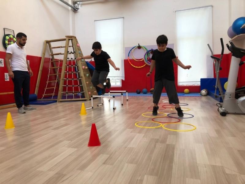 DBB'nin spor eğitimleri otizmli çocukların yaşama tutunmasını sağlıyor