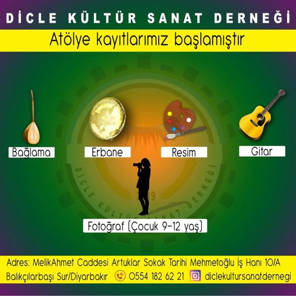 DİCLE KÜLTÜR VE SANAT DERNEĞİ'NDE EĞİTİM DÖNEMİ!