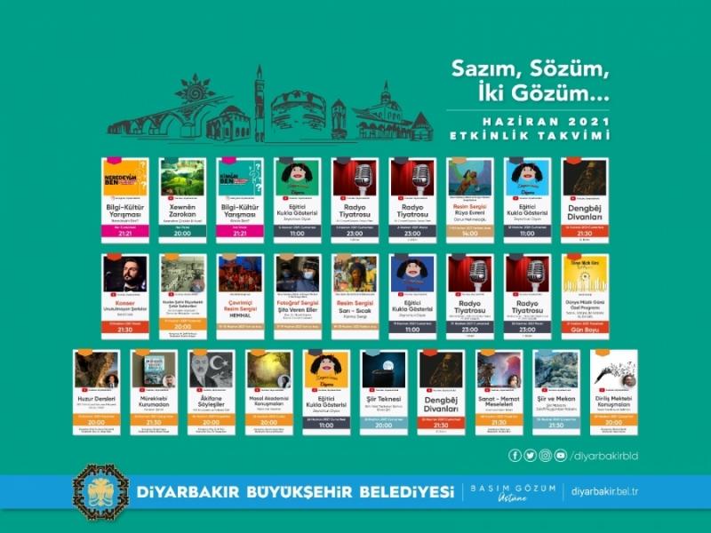 Diyarbakır'da Haziran renkli geçecek