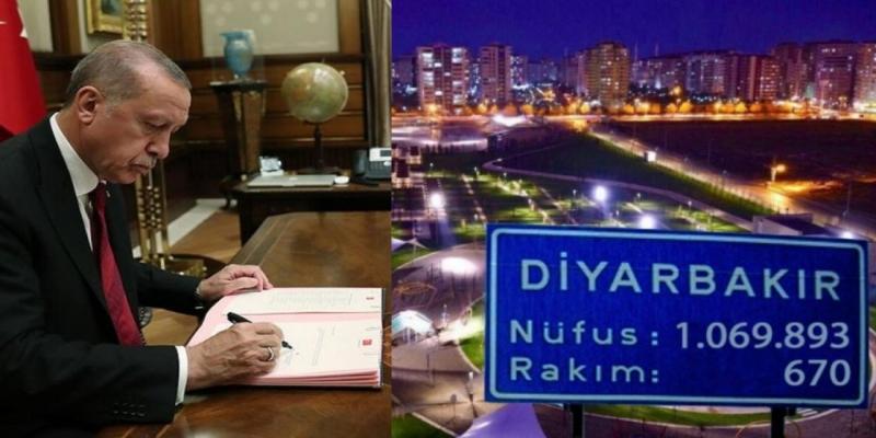Erdoğan, Diyarbakır sınırını değiştirdi