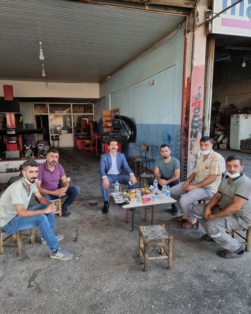 Ergani Kaymakamı Öztürk'ten esnaf ziyareti