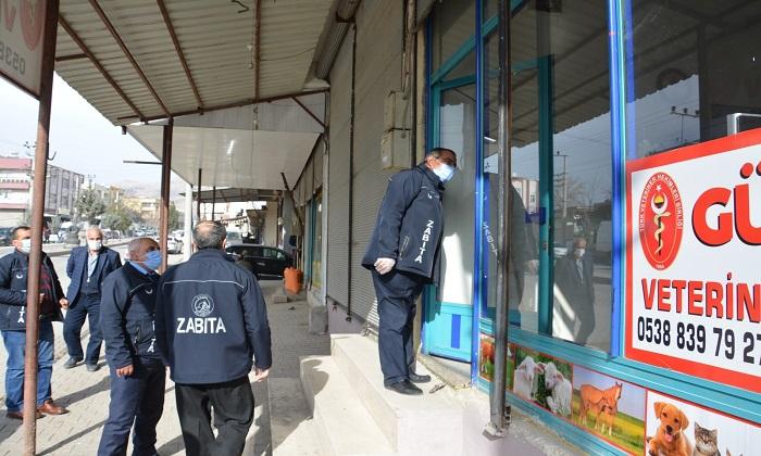 Ergani'de Covid-19 denetimleri sürüyor