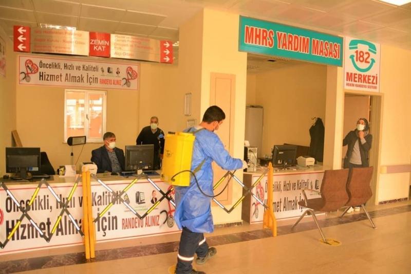Ergani'de dezenfekte çalışmaları sürüyor