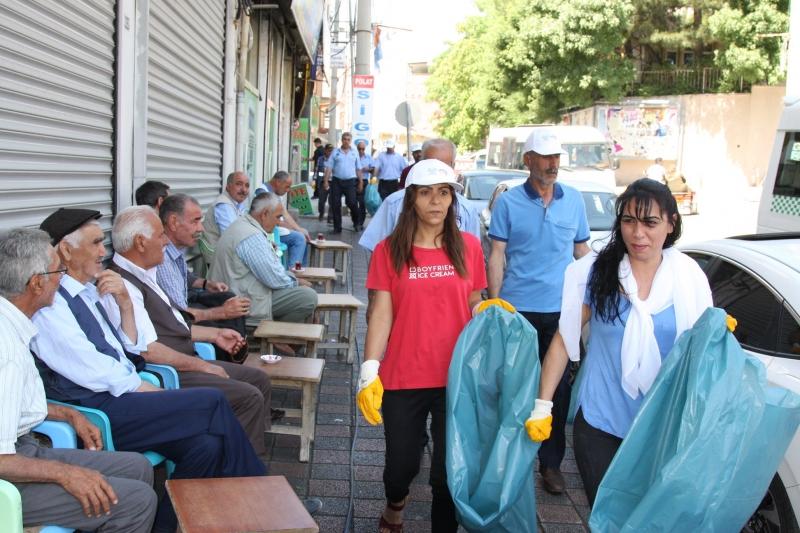 Ergani'de Kaldırım İşgali Uyarısı