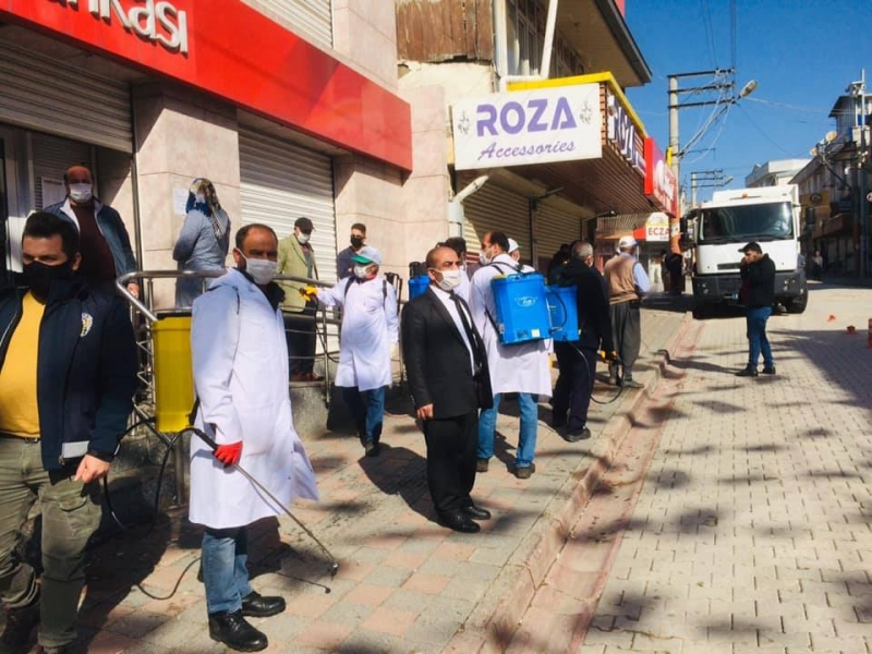 Ergani'de koronavirüs tedbirleri