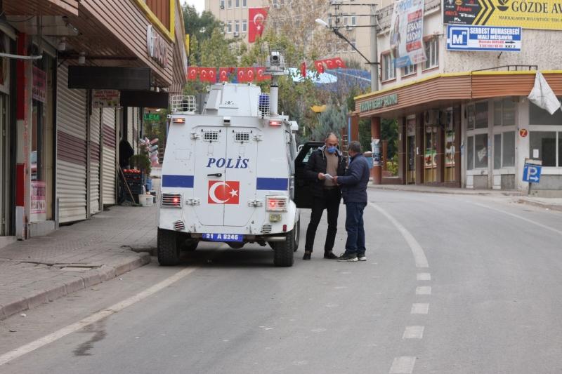 Ergani'de sokağa çıkma kısıtlamasına uyulduğu görüldü