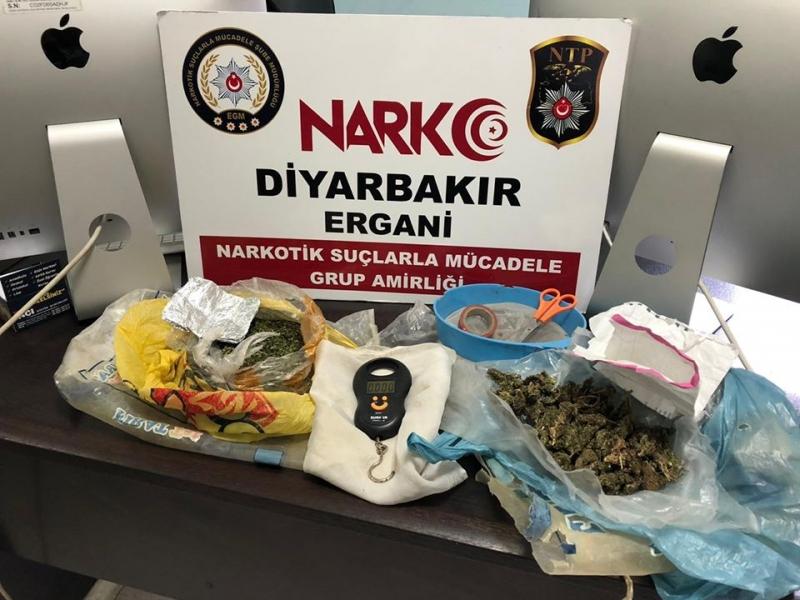 Ergani'de uyuşturucu operasyonunda iki kişi gözaltına alındı