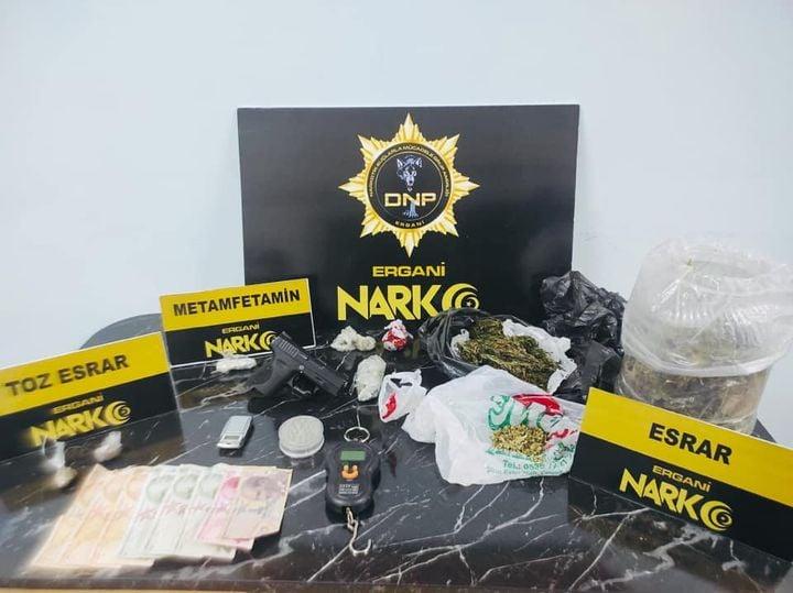 Ergani'de uyuşturucu operasyonunda yakalanan 1 şüpheli tutuklandı