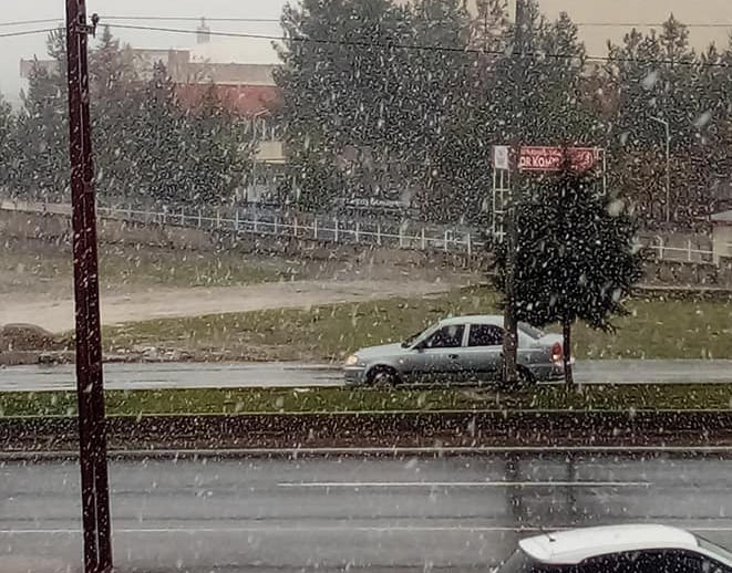 Mart ayında kar yağışı