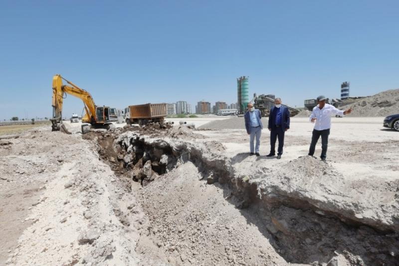 Mezopotamya Caddesi'nde altyapı çalışmaları başladı