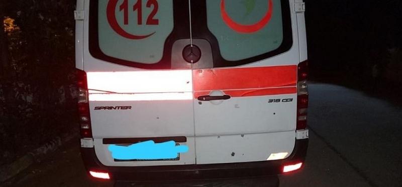 Vakayı almaya giden 112 Ambulansı kurşunlandı!