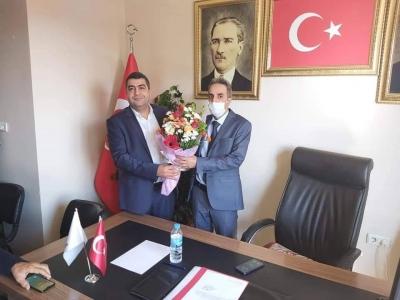 AK Parti Ergani İlçe Başkanlığında devir teslim