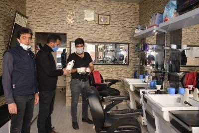 Berber ve Kuaförlere Maske dezenfekta desteği