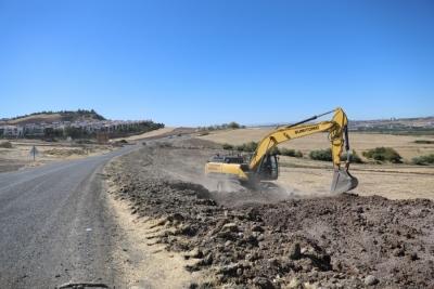 Diyarbakır Terkan yolunda çalışma başlatıldı