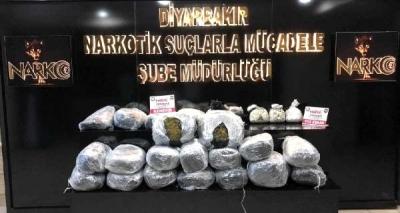 Diyarbakır'da bir ayda 1 tonun üzerinde uyuşturucu ele geçirildi