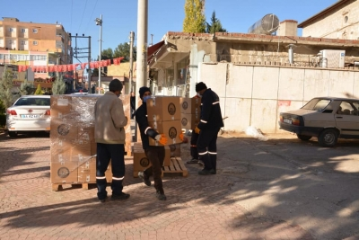 Ergani Belediyesi'nden yakınlarını kaybeden ailelere destek
