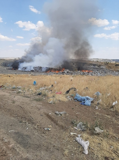 Ergani çöplüğü vatandaşlara rahatsızlık veriyor