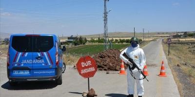 Ergani'de bir mahalleye korona karantinası