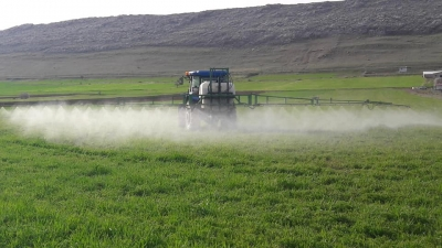 Ergani'de buğday ilaçlama dönemi başladı