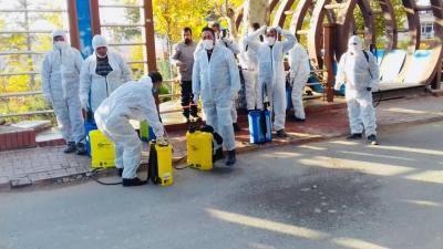 Ergani'de dezenfekte çalışması sürüyor