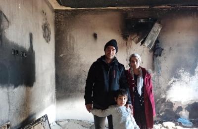 Ergani'de evde yangın