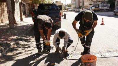 Ergani'de hız kesici kasis çalışmaları başladı