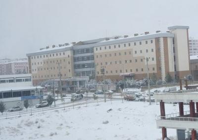 Ergani'de Kar Yağışı
