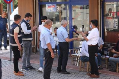 Ergani'de maske denetimi yapıldı