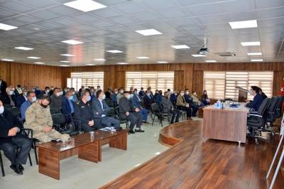 Ergani'de Muhtarlarla Pandemi Toplantısı Düzenlendi