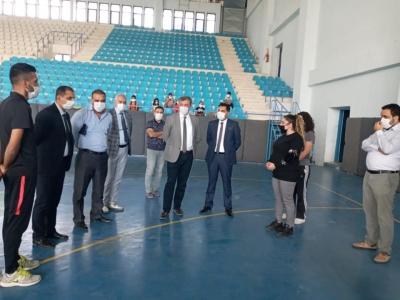 Ergani'de Spor Tesislerine İnceleme