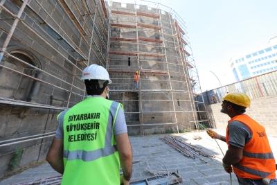 Hat Müzesi olacak Dağkapı Burçları'nda restorasyon başladı