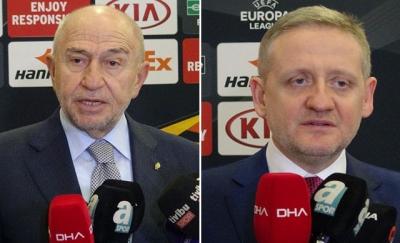 Nihat Özdemir ve Göksel Gümüşdağ'dan Sporting maçı sonrası açıklamalar