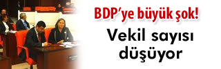 BDP bir milletvekili eksiliyor