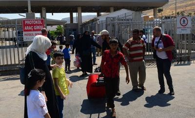 Suriye sınırında hayat normale döndü